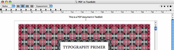 PDF in TextEdit