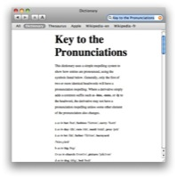 Key to the Pronunciations