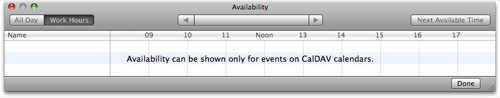 iCal availability panel